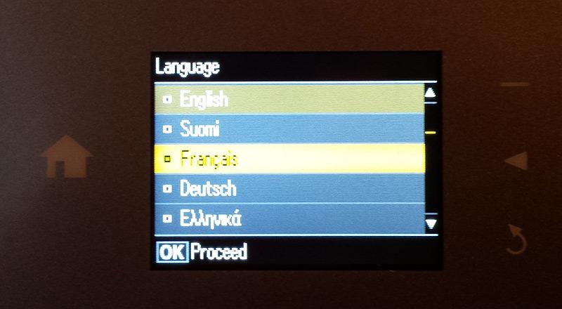Choix de la langue