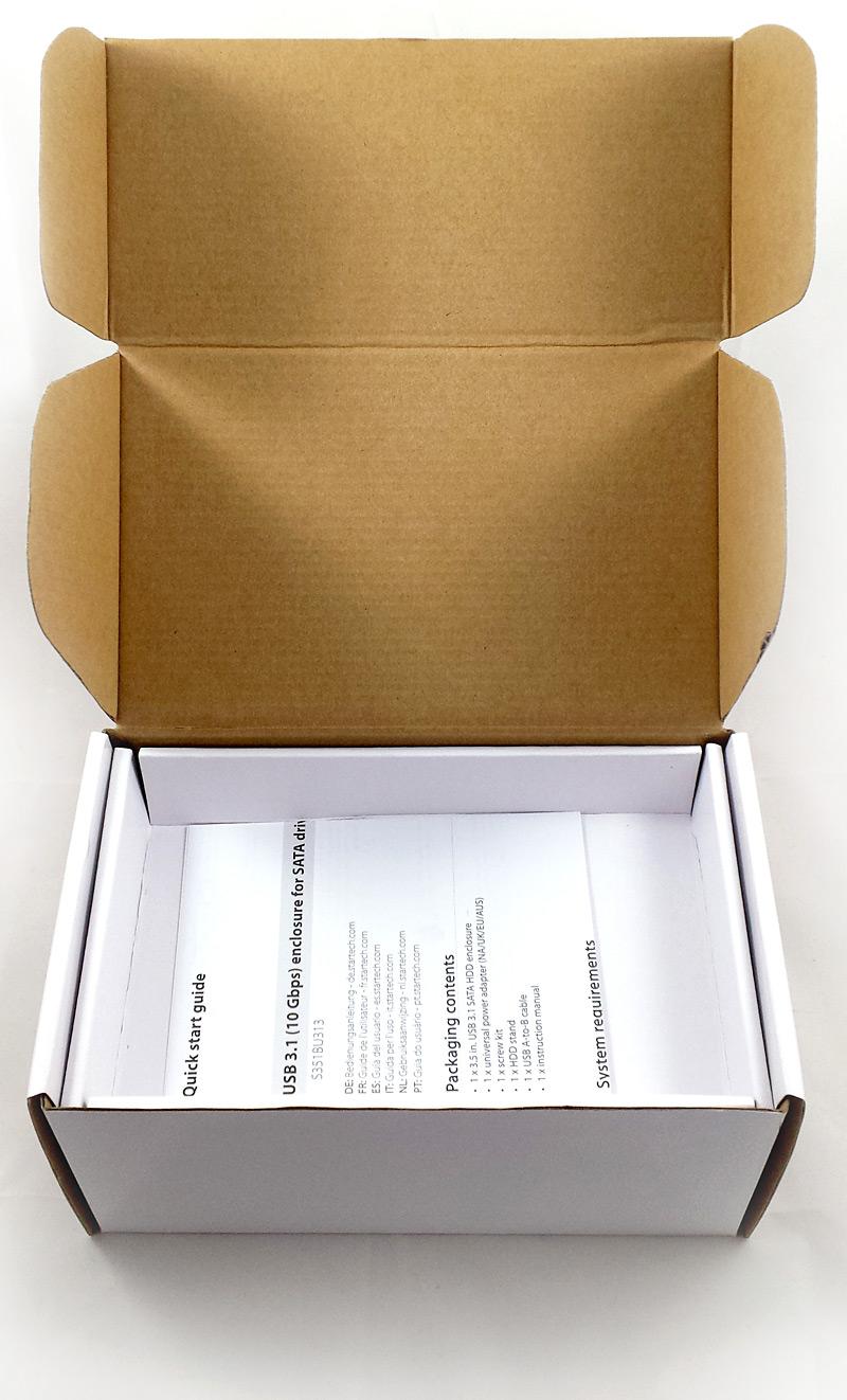 Intérieur de l'emballage - notice
