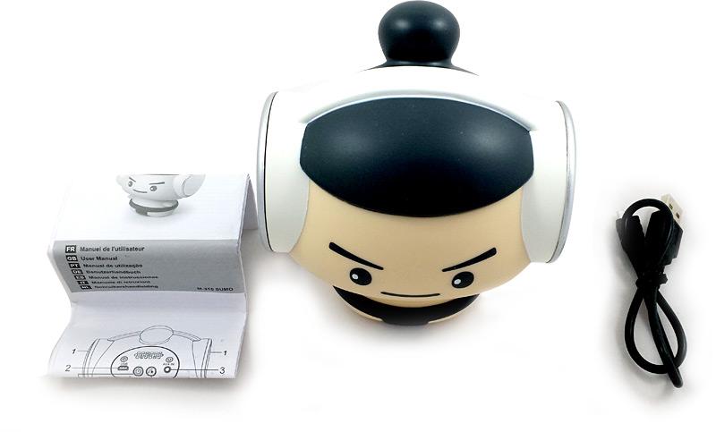Enceinte portable bluetooth M-315 Sumo, câble et notice