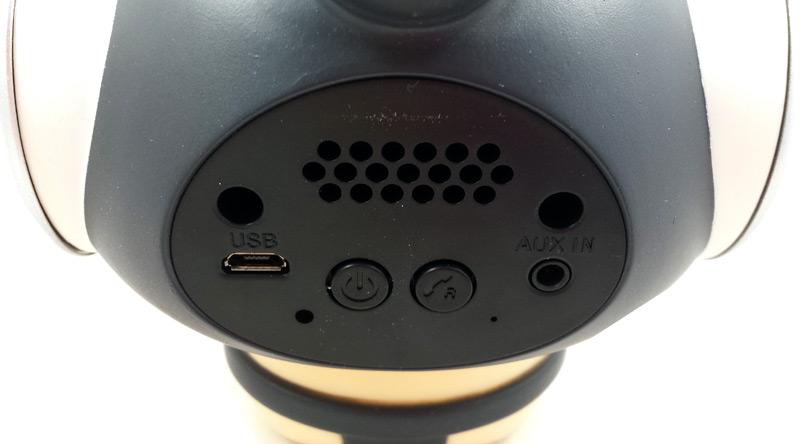 Face arrière de l'enceinte portable bluetooth M-315 Sumo avec boutons et connecteurs