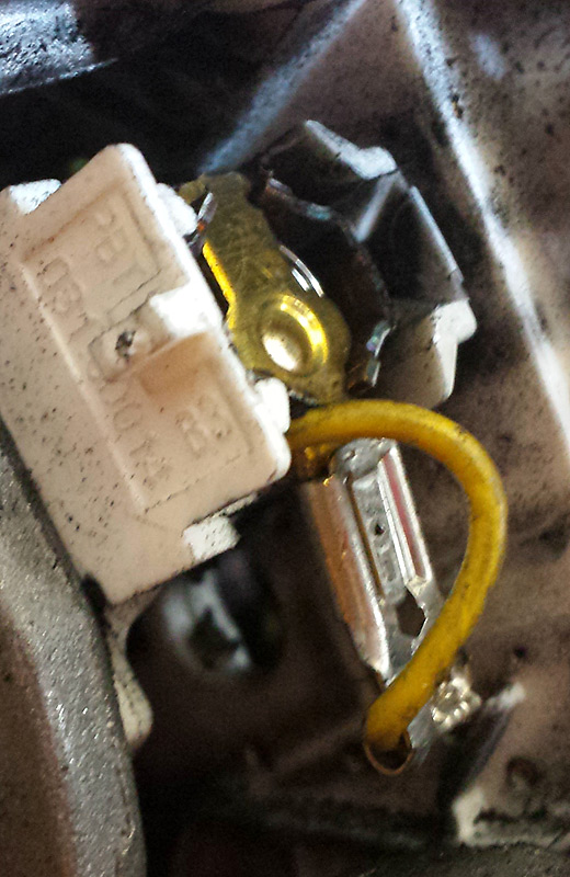 Charbon moteur en place