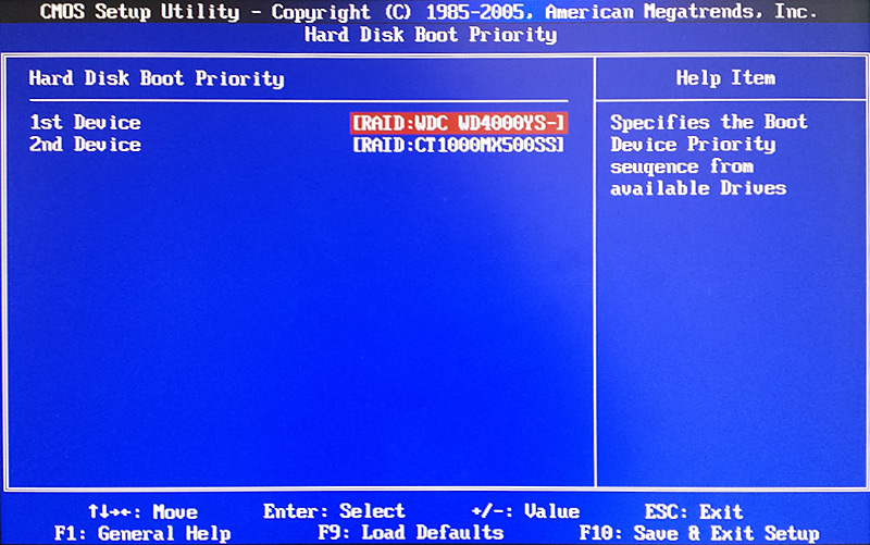 BIOS hard disk boot sequence