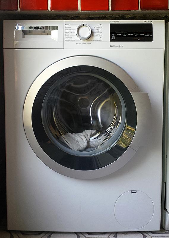 Machine à laver en place