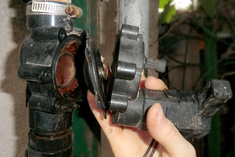 Séparation des parties de la vanne