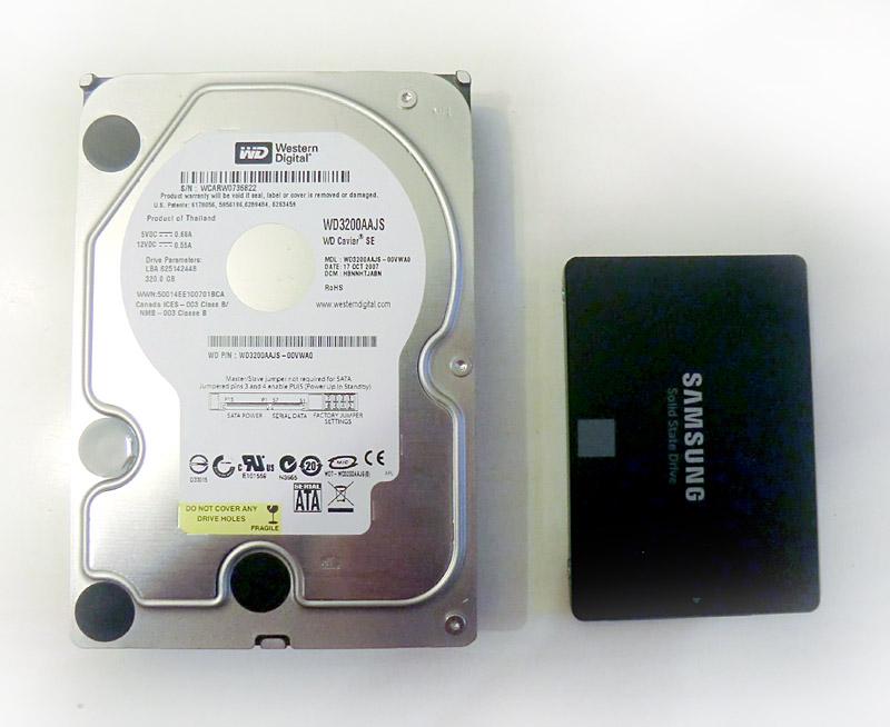 Comparaison ancien et nouveau disque dur