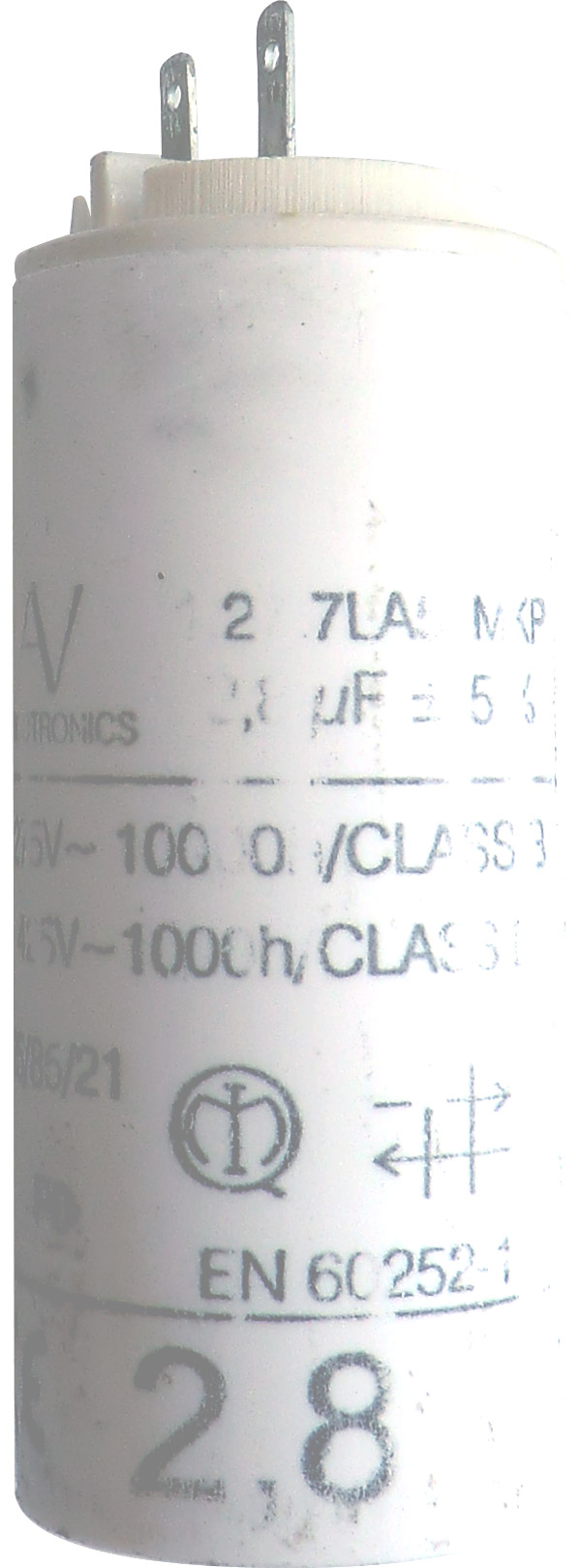 Caractéristiques du condensateur