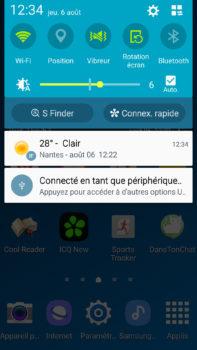 Galaxy S4 connecté en tant que périphérique