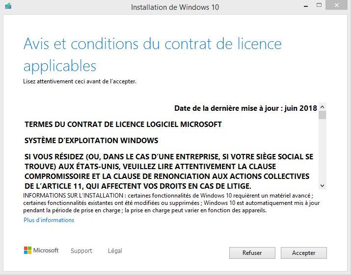 CLUF de Windows 10