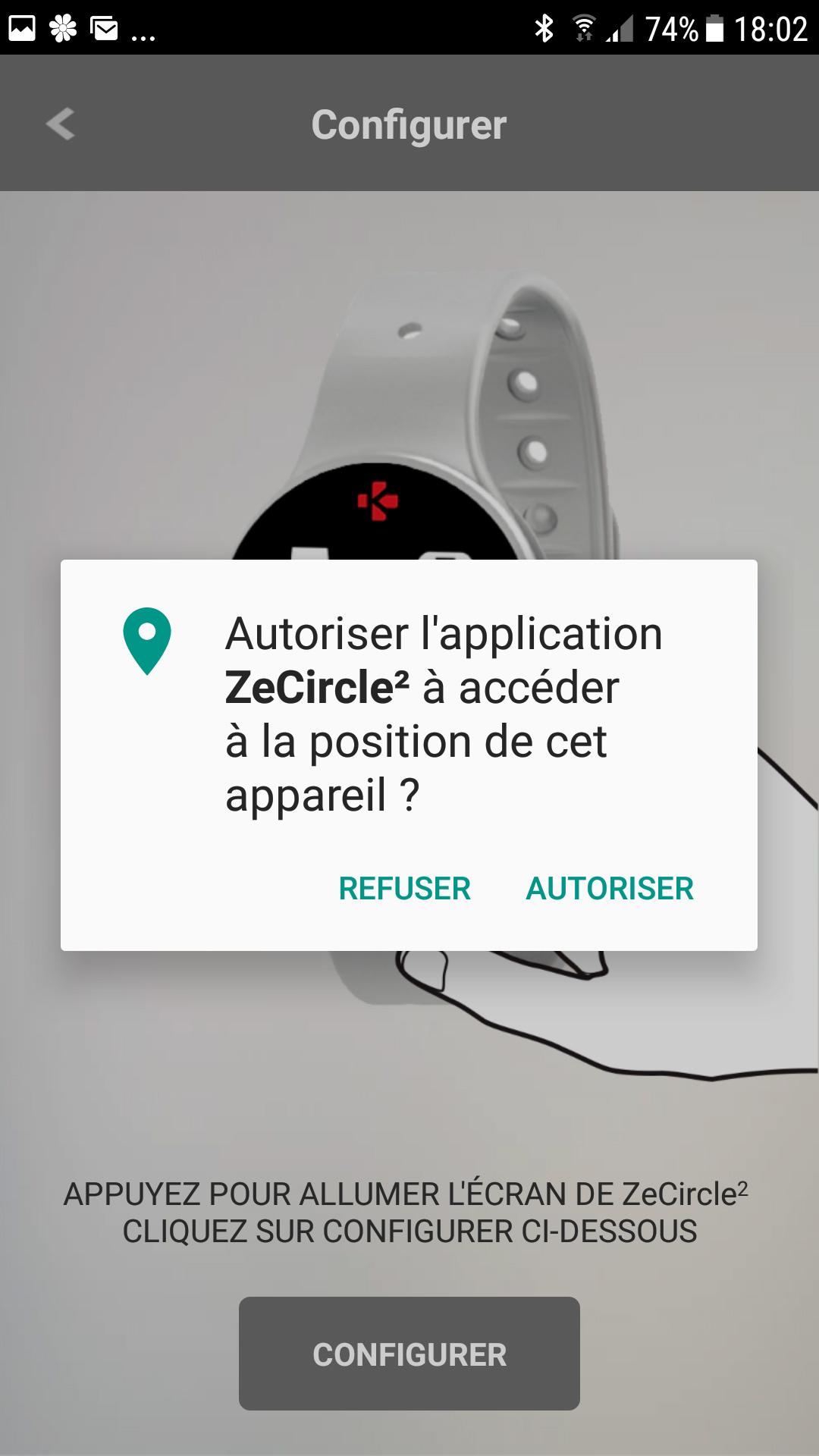 Demande d'autorisation