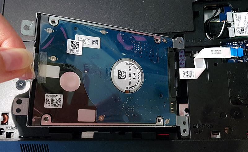 Extraction du disque dur et de son support