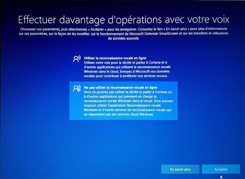 Désactivation de Cortana