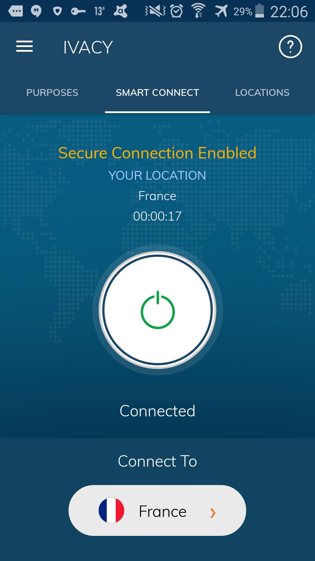 Connexion établie
