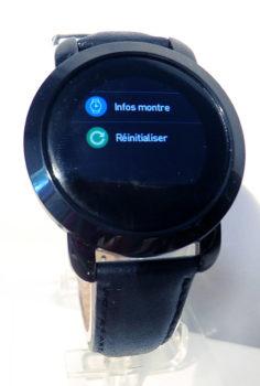 3e sous-menu paramètres de la montre
