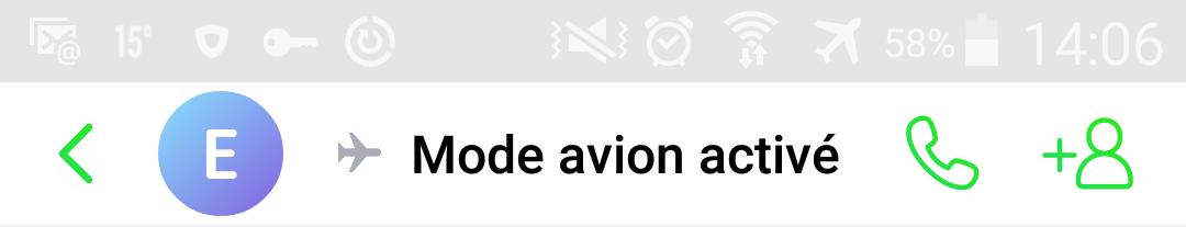 ICQ mode avion activé