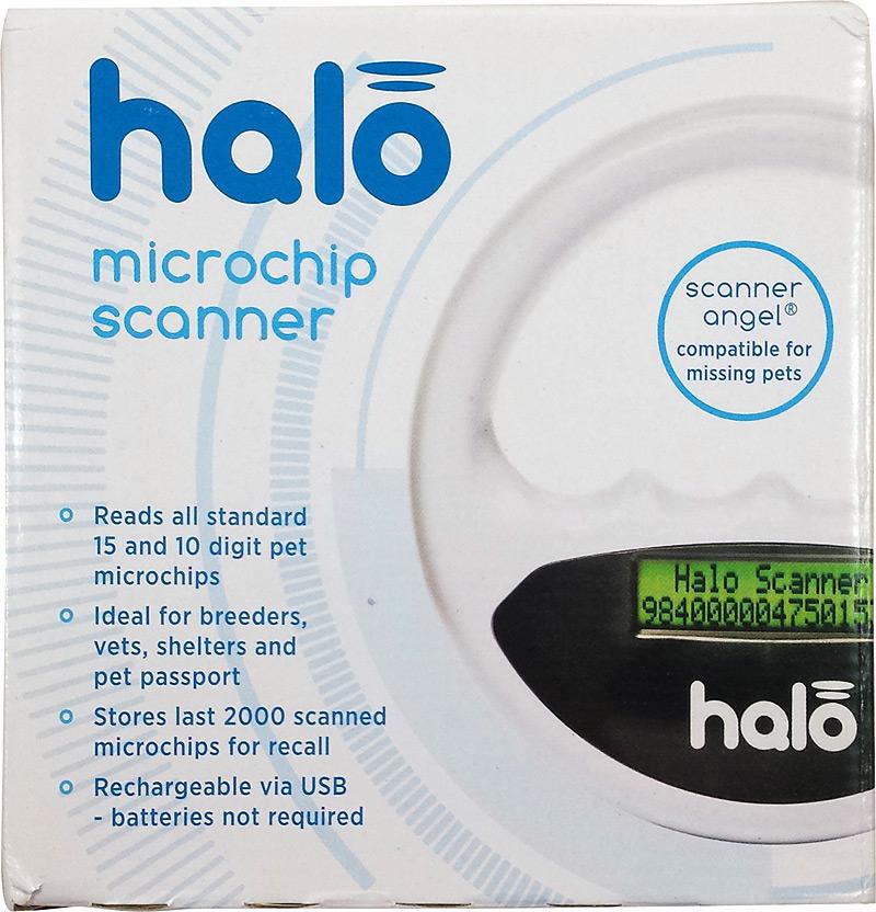 Recto de la boîte du lecteur de puce Halo