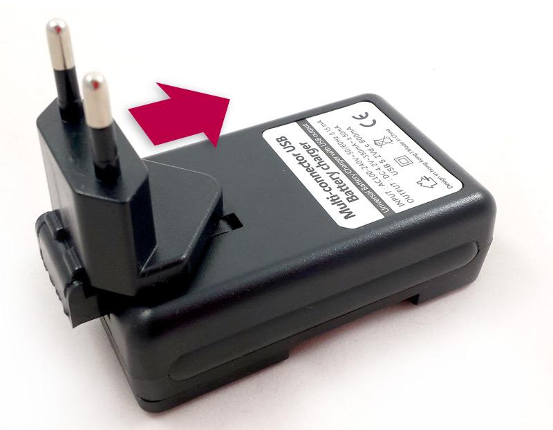 Mise en place de l'adaptateur pour prise de courant européenne