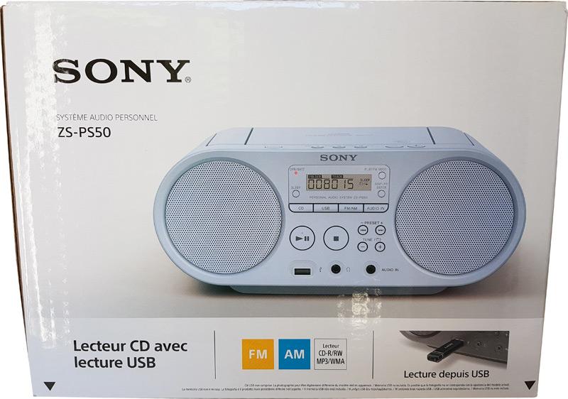 Boîte du Sony ZSP S50L