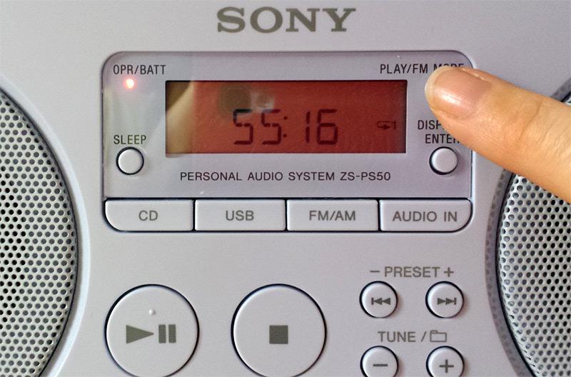 Bouton play/FM mode
