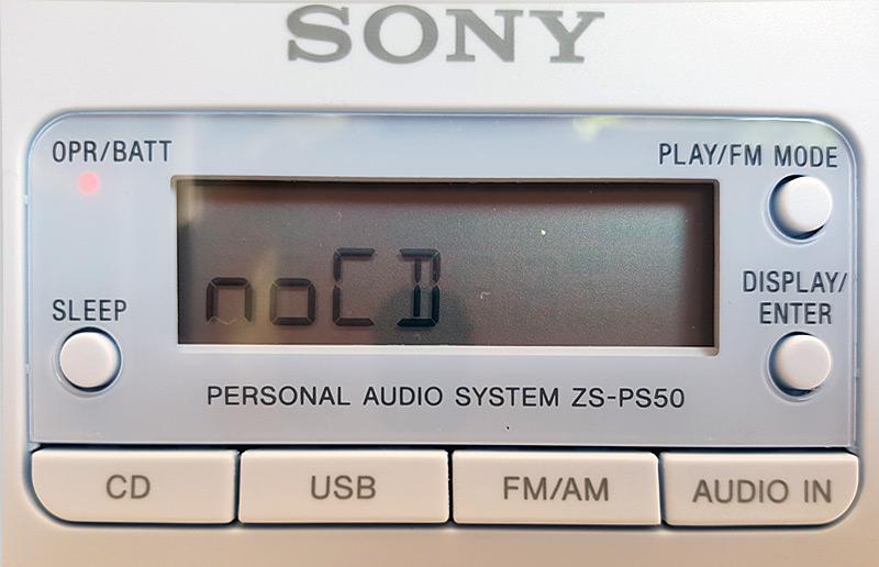 Message no CD