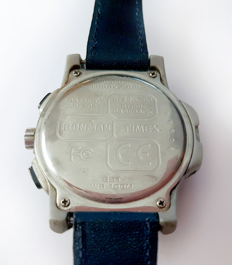Dos de la montre Timex Datalink USB