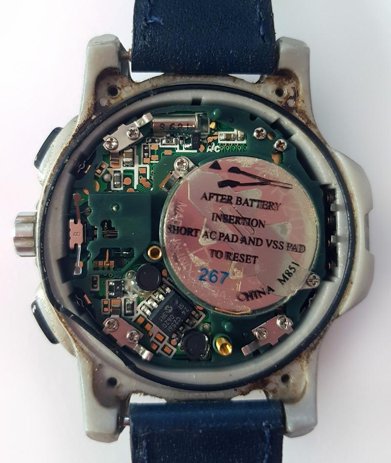 Intérieur de la montre