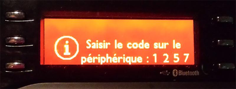 Code autoradio à saisir sur le téléphone