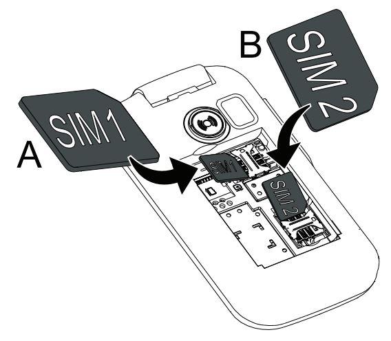 Insertion des cartes SIM