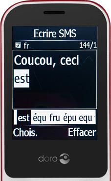 Ecriture d'un SMS